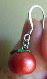 red tomato earrings