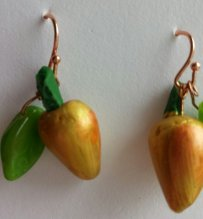 gold pears, gold wires