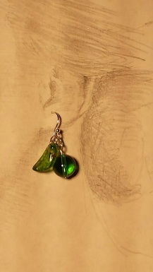 Granny Smith, crystal with silver wires $15